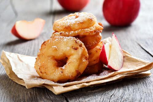 Rezept Apfelringe im Käse-Knusperteig