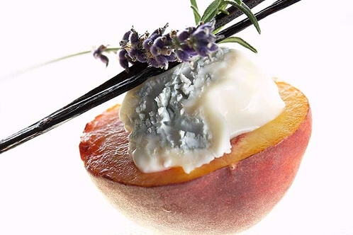 Rezept Gorgonzola auf gebratenem Pfirsich