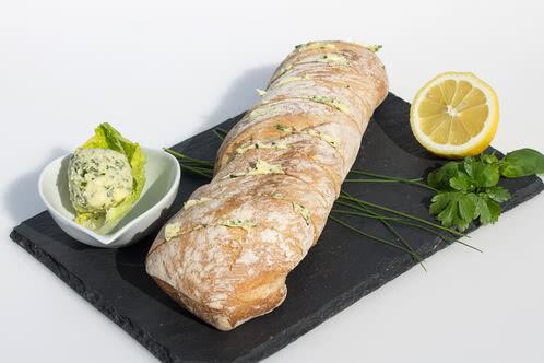 Rezept Kräuterbutter-Baguette für den Grill